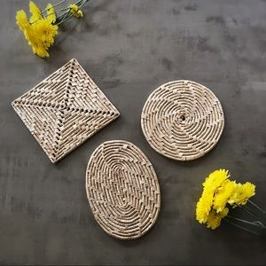 Other - Set of 3 Wicker Trivets